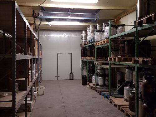 Impianto conservazione magazzino fusti birra